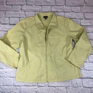 Eileen Fisher zip jacket. Large. Yellow / Green *